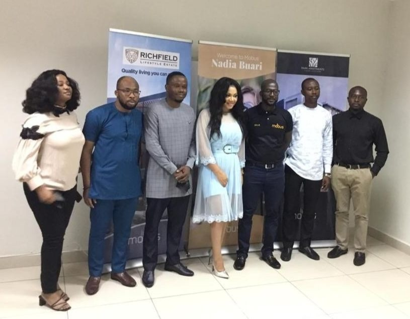 Nadia Buari outdoored as brand influencer for Mobus Properties