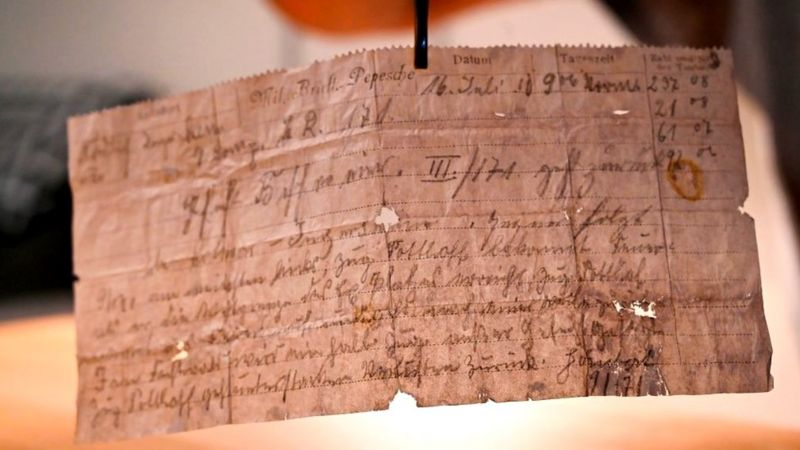 pigeon message found over a century after sentgerman
