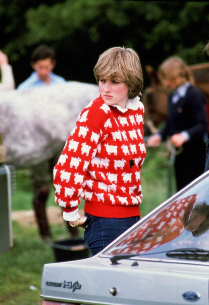 Princess Diana's 'black sheep' sweater is back on sale -- four decades after she made it famous