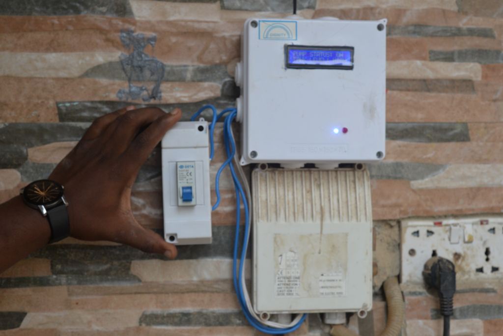 KNUST graduate designs automatic water control and management system