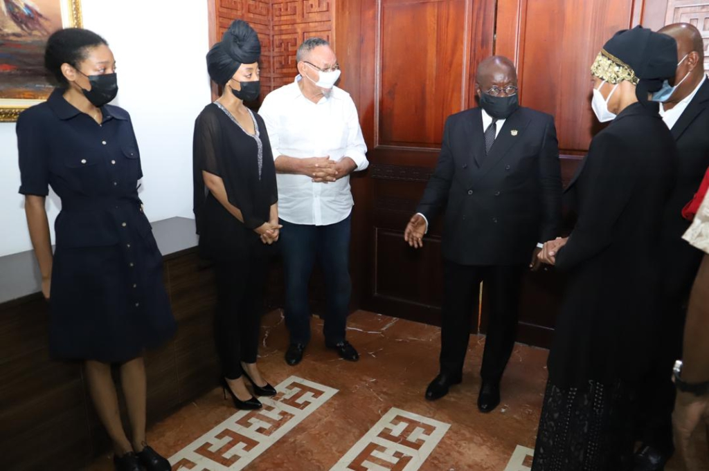 Photos from Akufo-Addo's meeting with Rawlings' daughters