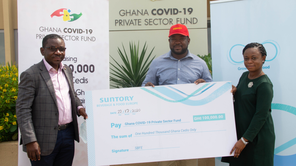 Suntory Beverage and Food Europe provides additional support for Ghana Covid-19 Private Sector Fund