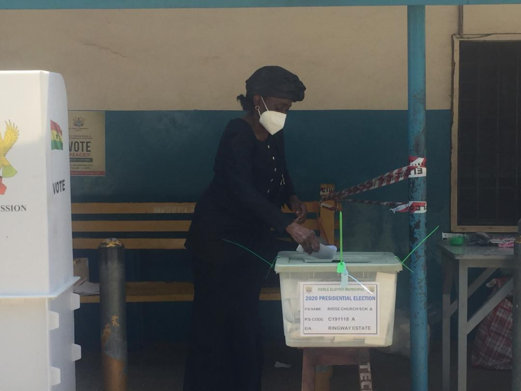 Konadu Rawlings votes