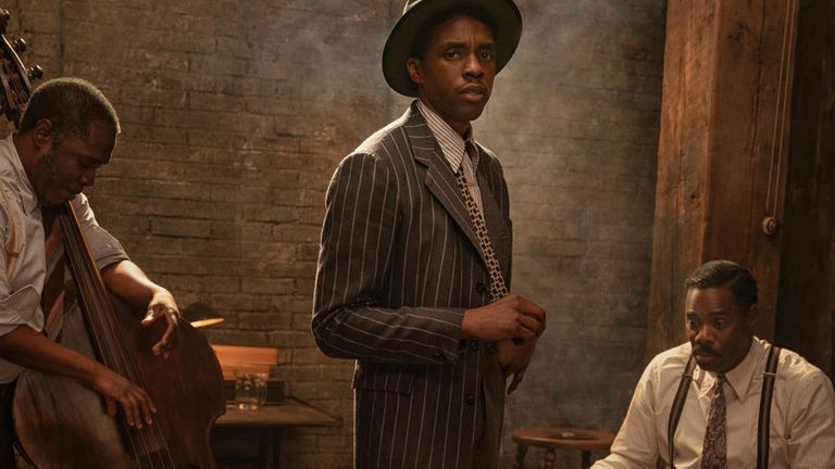 Chadwick Boseman pictured in his final role before his death. Pic: David Lee/Netflix
