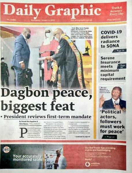 Newspaper headlines of Wednesday, January 6, 2021 13