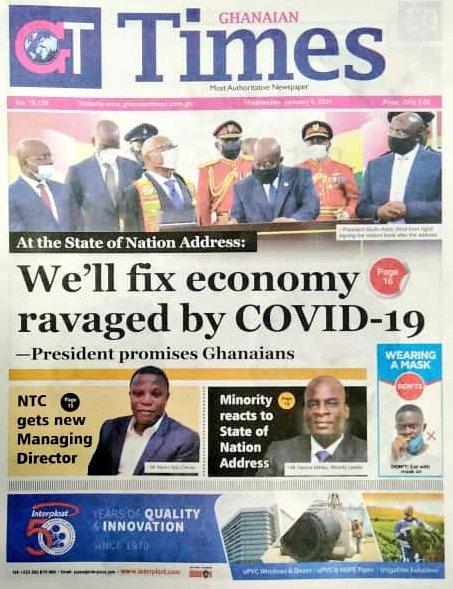 Newspaper headlines of Wednesday, January 6, 2021 15