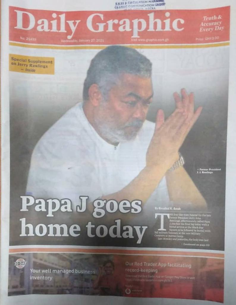 Newspaper headlines of Wednesday, January 27, 2021 1