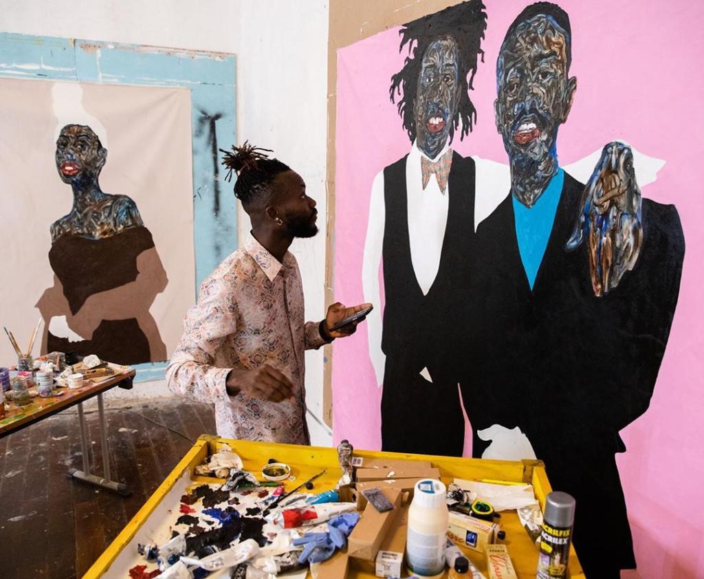 Figurative painter, Amoako Boafo (Credit: Francis Kokoroco)   Adomonline.com