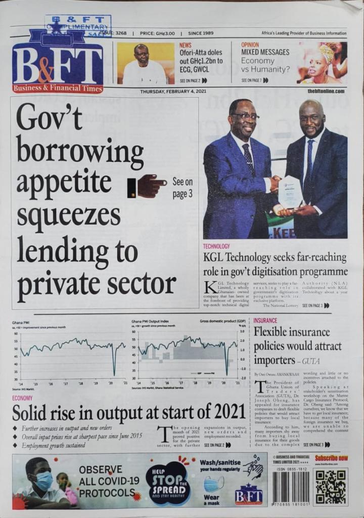 Newspaper headlines of Thursday, February 4, 2021 5