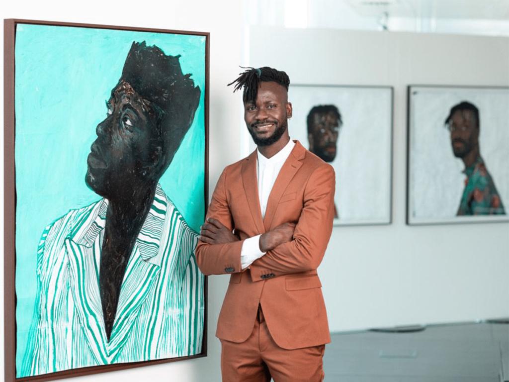 Figurative painter, Amoako Boafo