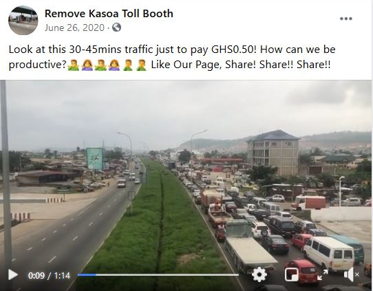 Residents of Kasoa call for relocation of Weija-Kasoa tollbooth