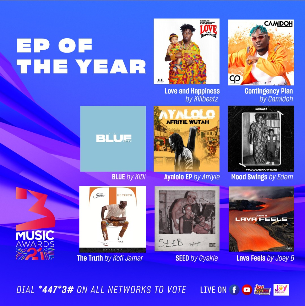 3Music Awards 2021 nominees