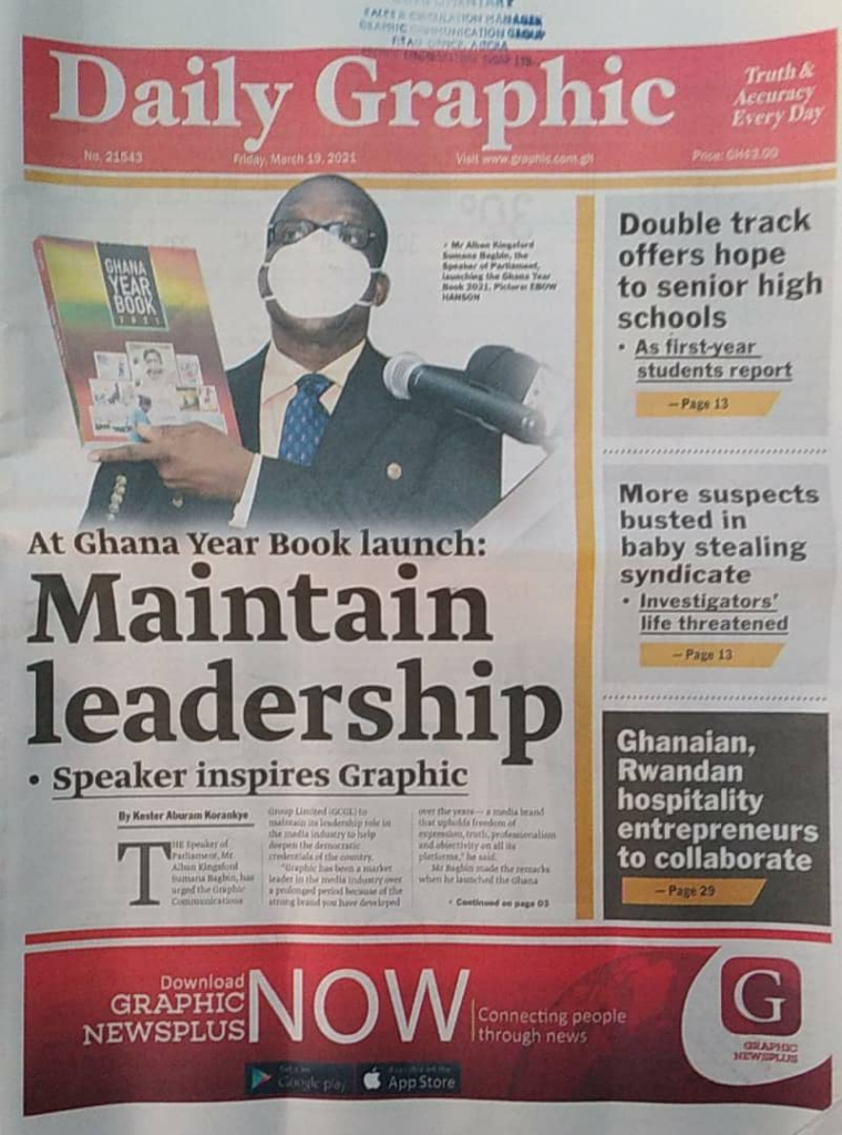 Newspaper headlines: Friday, March 19, 2021. 14