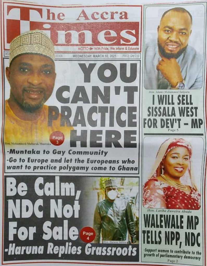 Newspaper Headlines of Wednesday, March 10, 2021 6