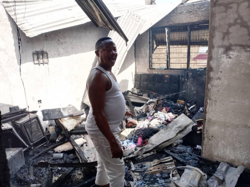 Fire destroys 13 residential apartments in Sunyani
