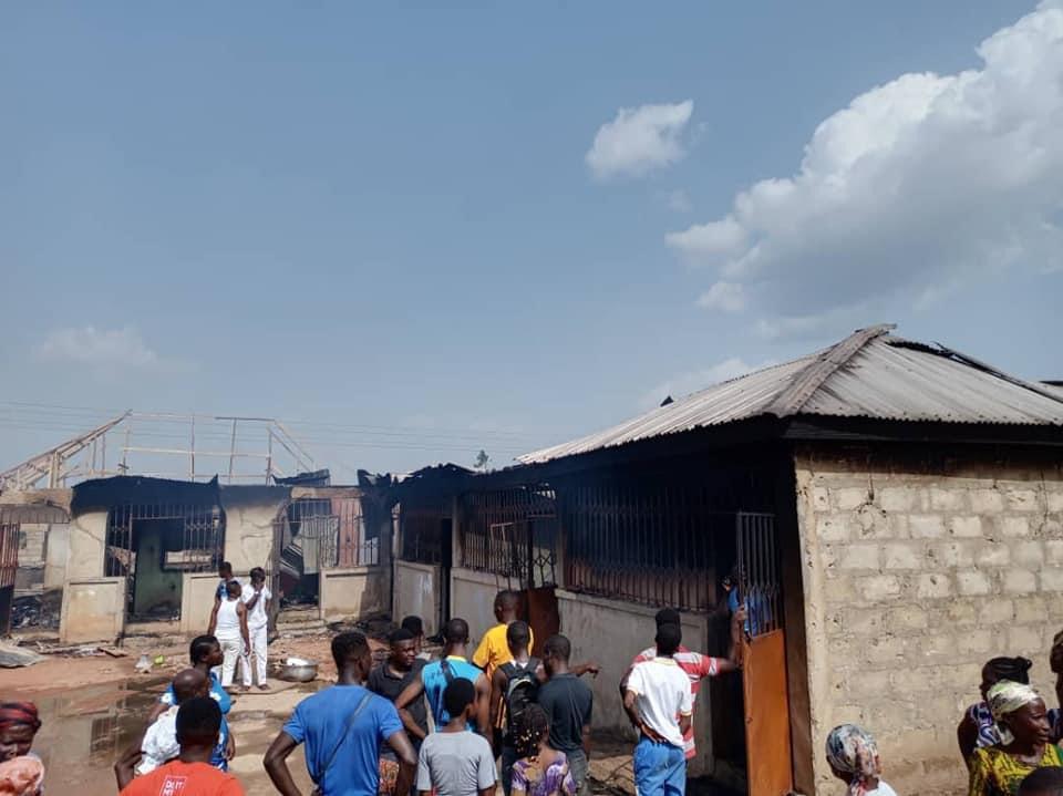 Fire guts 13 apartments in Sunyani