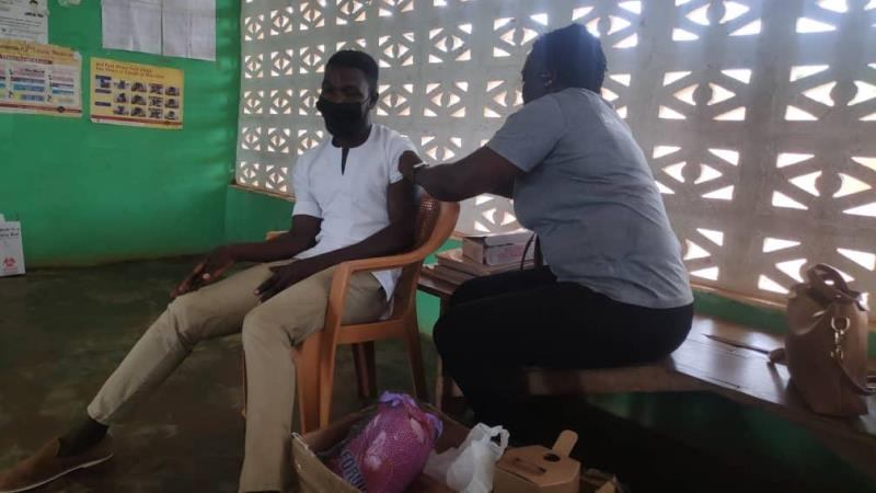 A total of 119 health workers vaccinated at Agotime-Ziope District