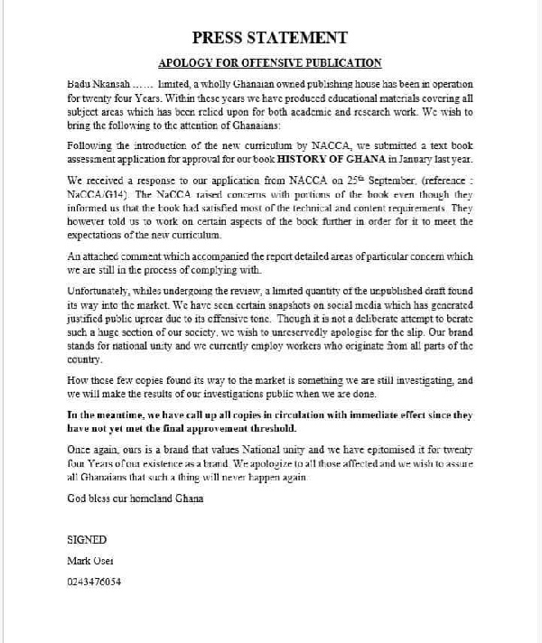 Badu Nkansah apologises for 'offensive Ewe' textbooks 1