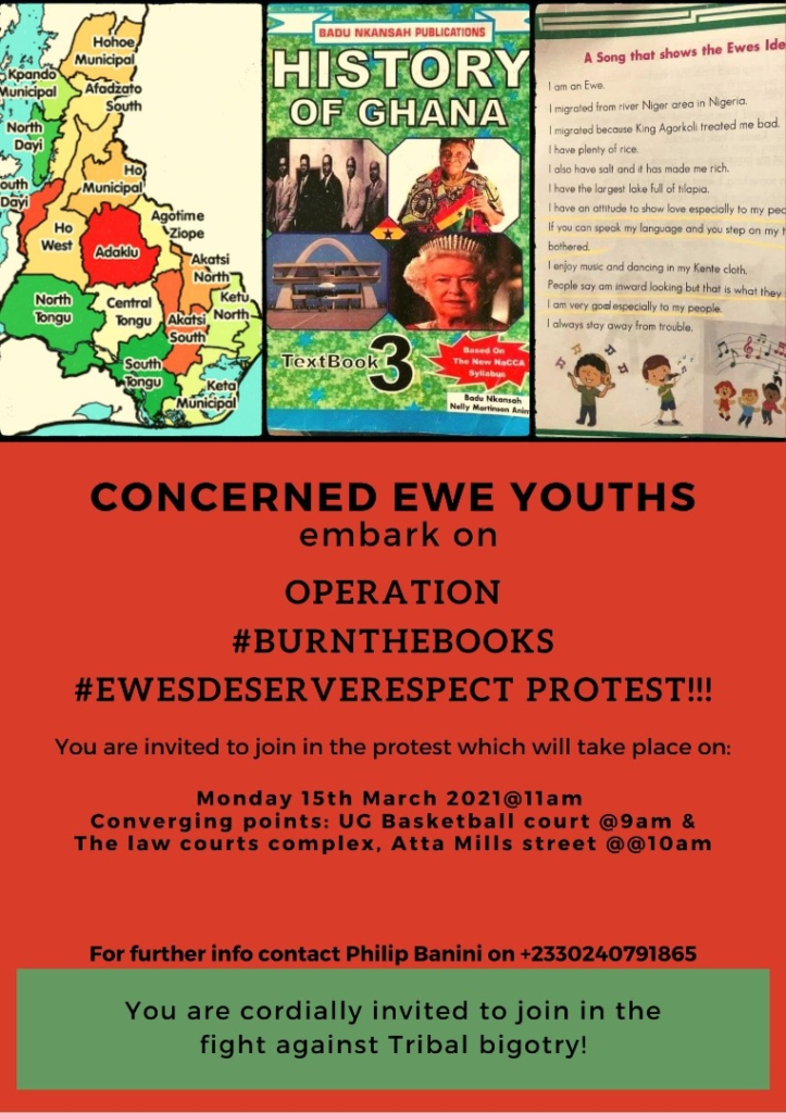 Ewe Youth group postpones 'BurnTheBooks' protest, gives GES 14 days to withdraw 'offensive Ewe' textbooks