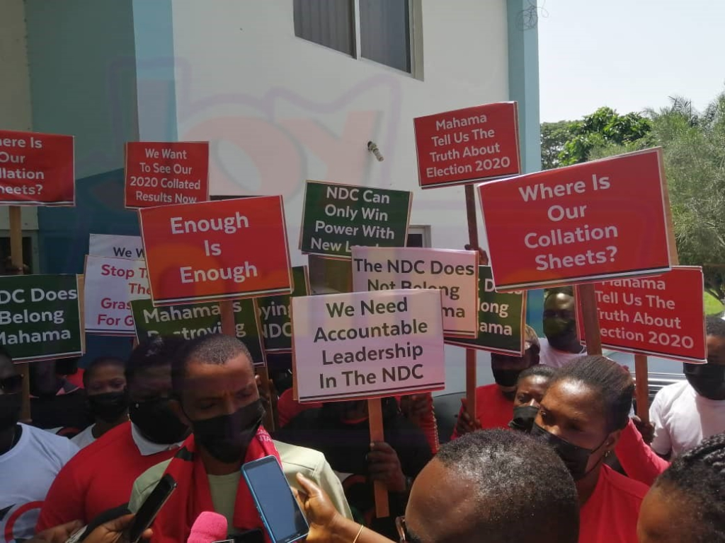 Group demands accountability from NDC leadership on election 2020 results