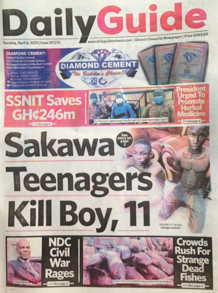 Newspaper headlines: Tuesday, April 6, 2021. 13