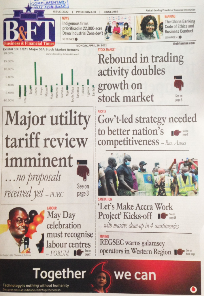 Today's front pages: Monday, April 26, 2021