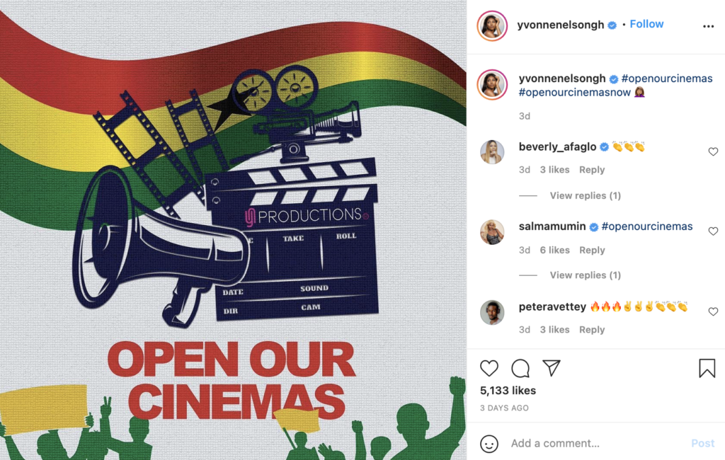 Reopening of cinemas is under constant review by Covid-19 task force - Akufo-Addo