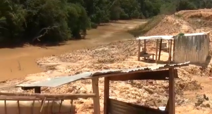 16 'galamsey' excavators seized at Amenfi West in Western Region. 53