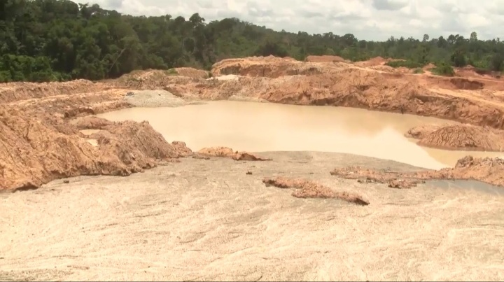 16 'galamsey' excavators seized at Amenfi West in Western Region. 54