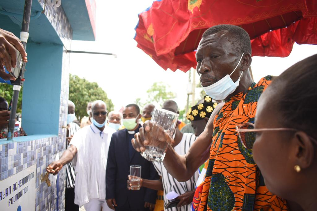 Bryan Acheampong Foundation hands over mechanised boreholes to Pepease township