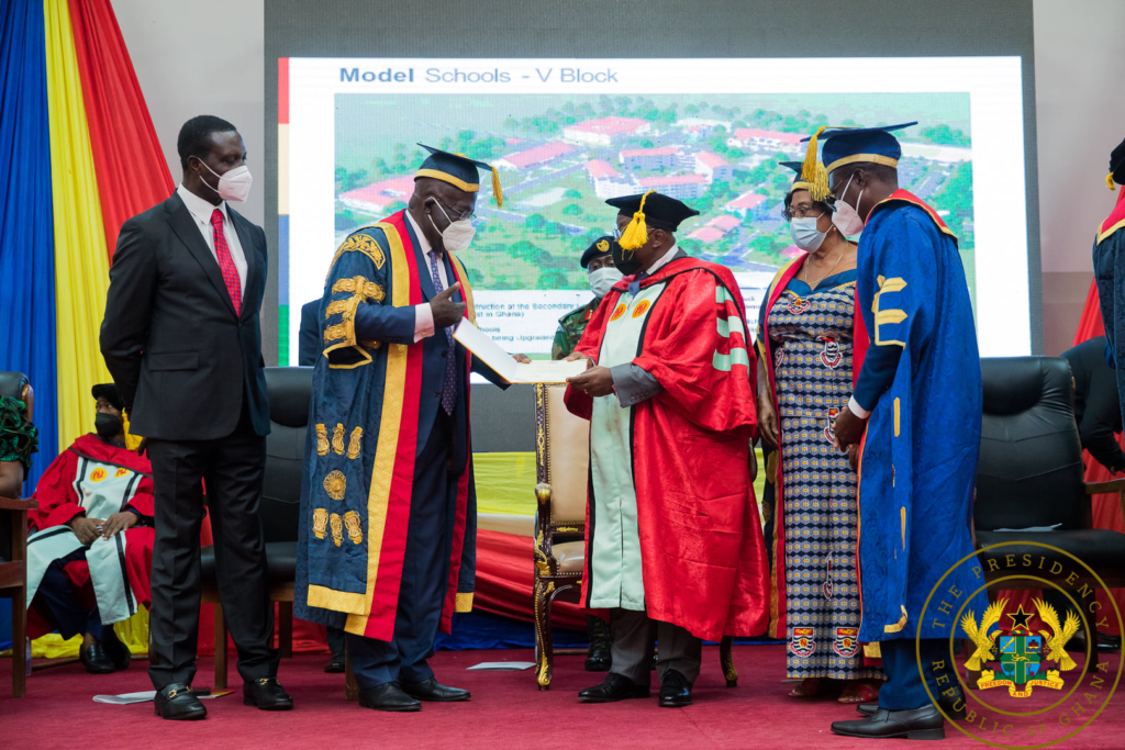Akufo-Addo receives honorary doctorate degree from UCC for Free SHS policy