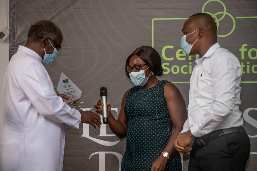 Centre for Social Justice and IMANI honour former Auditor General, Domelevo