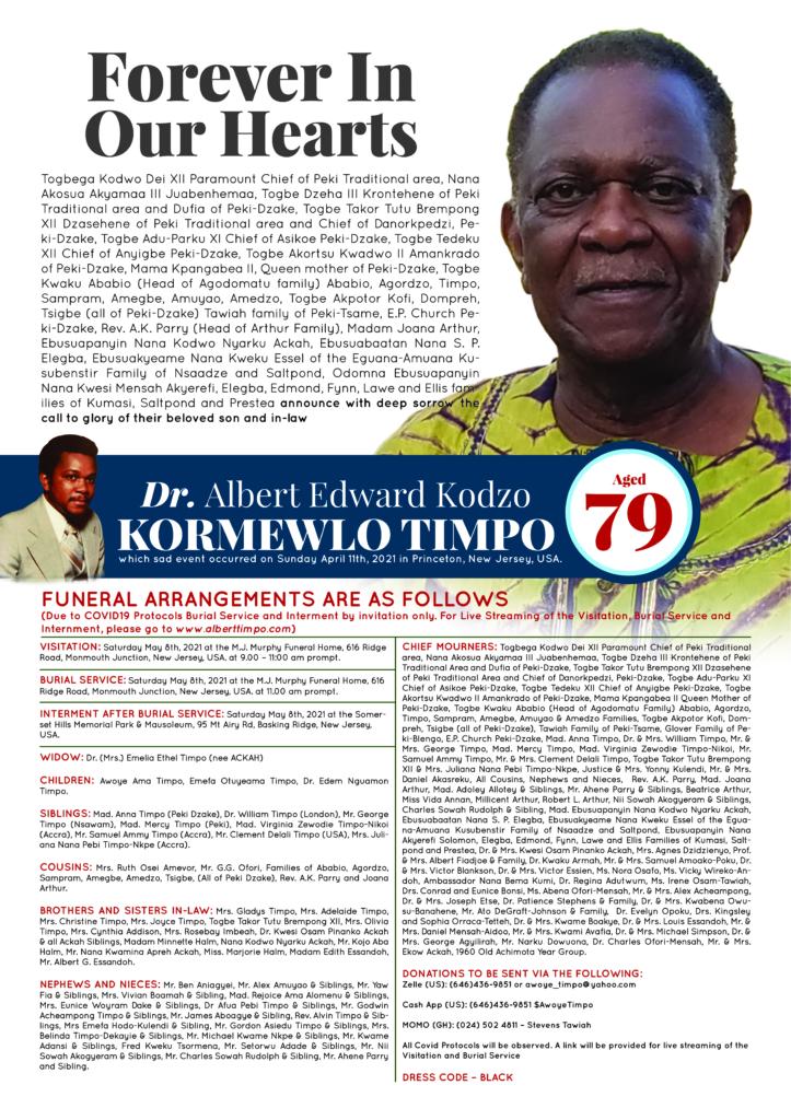 Dr Albert Edward Kodzo Kormewlo Timpo