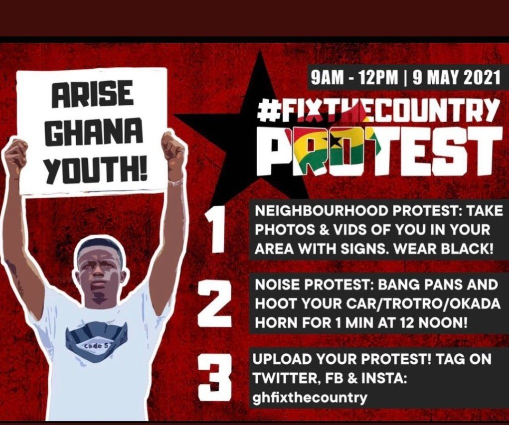 Angry Ghanaian youth take #FixTheCountry protests to social media after court injunction