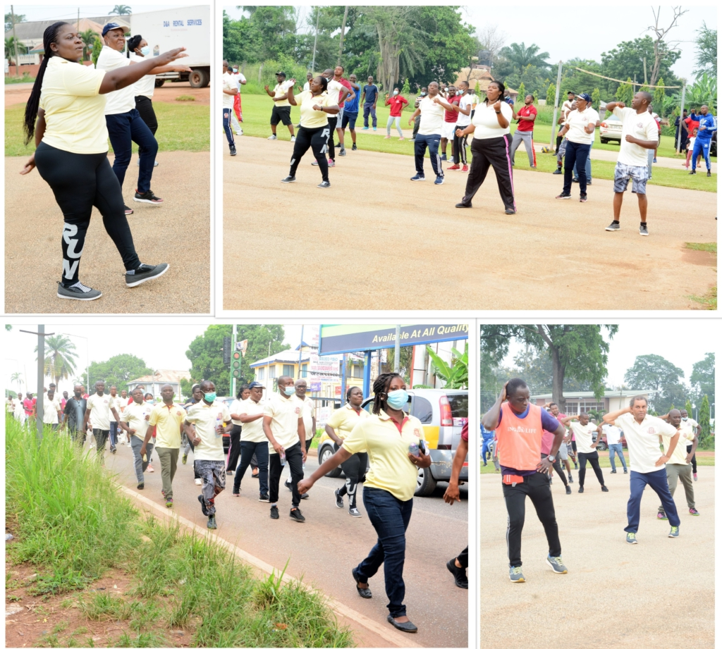 2021 Accountant Conference begins with health walk in Kumasi