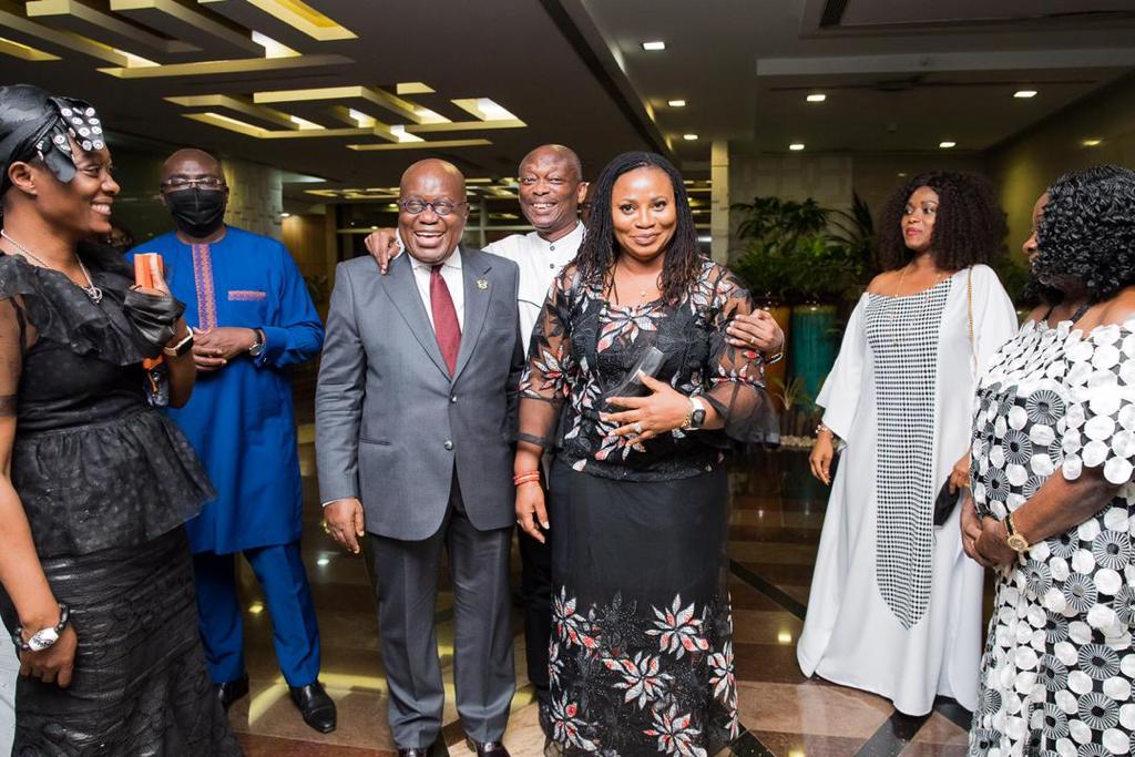 Photos: Kweku Baako and family visit Jubilee House to thank Akufo-Addo, Bawumia for their support during burial of his mother