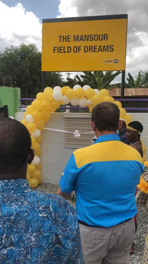 Mantrac Gh. Ltd. commissions 'Mansour Field of Dreams' turf in Takoradi