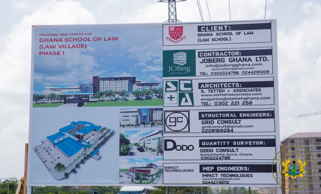 Akufo-Addo cuts sod for construction of Phase 1 of Law School Village