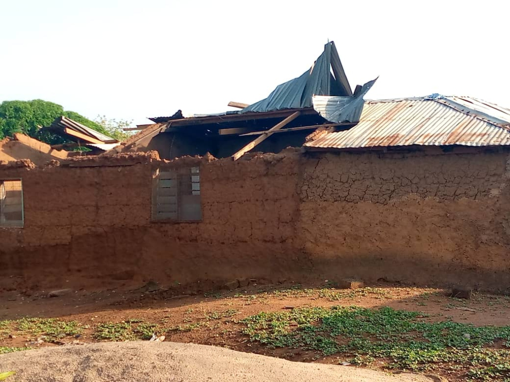 Many displaced after rainstorm in Damongo