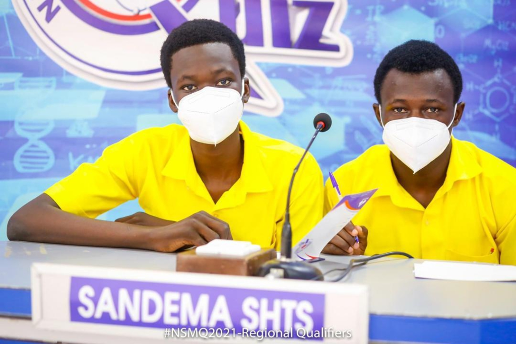 NSMQ 2021: 3-man Sandema SHTS team without supporters, books place in final U/E qualifiers