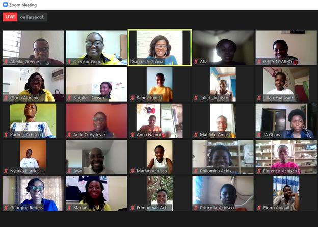 Newmont Ghana and Junior Achievement partner in new futures for Girls Leadership Camp Webinar