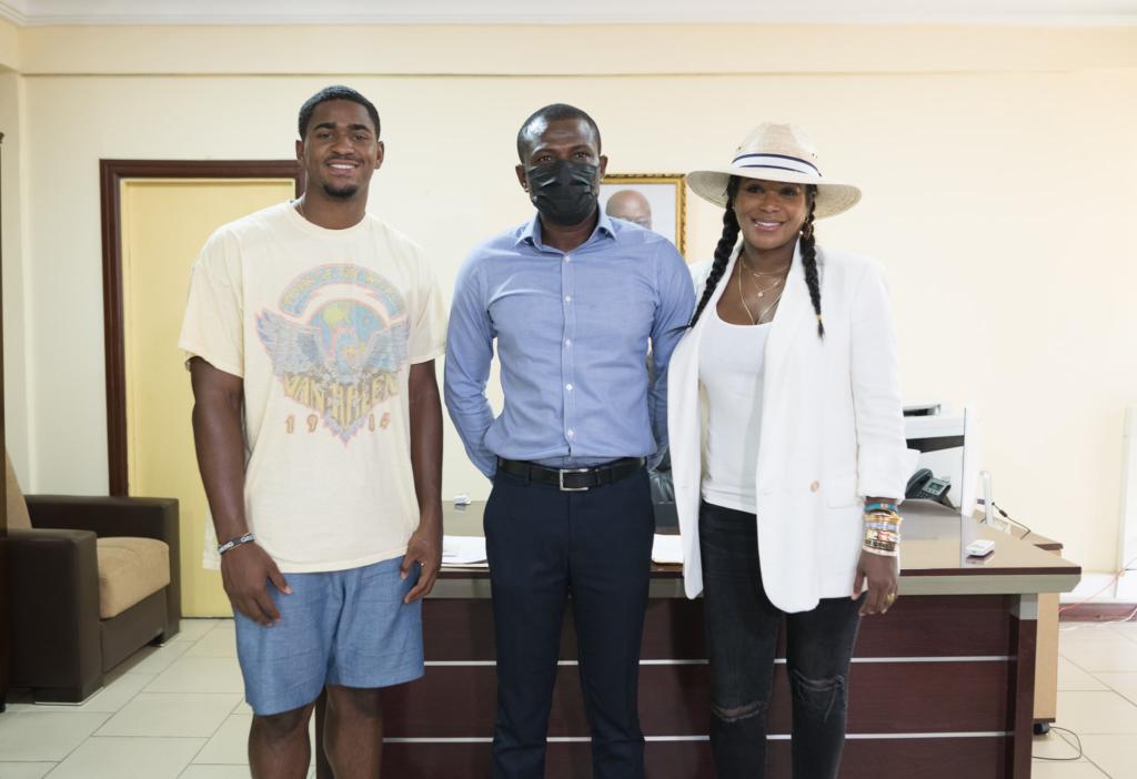 Celebrity stylist Tameka Raymond pays courtesy call on Deputy Tourism Minister-designate