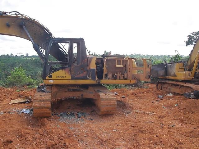 National Association of Small Scale Miners angry with government over burning of its members' excavators