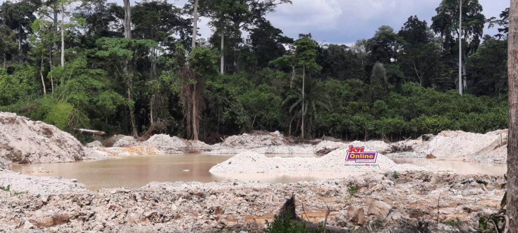 Uncovered mining pit at Subin Belt Reserve www.myjoyonline.com