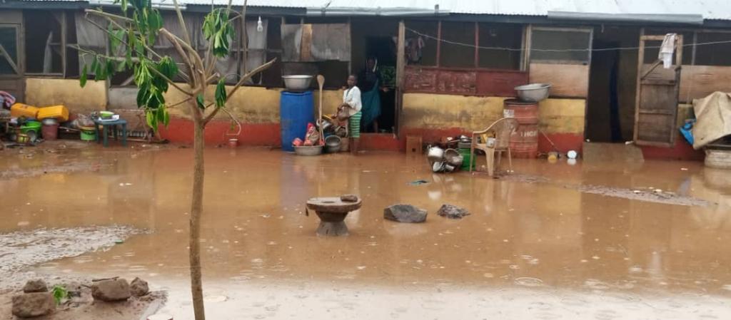 Heavy downpour renders several Damongo residents homeless