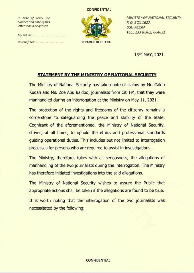 Citi FM journalist gained access to National Security premises under false pretences - Chief Director