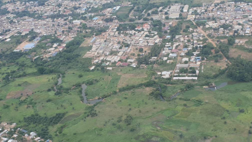 Lands Minister, Abu Jinapor embarks on aerial tour of River Pra