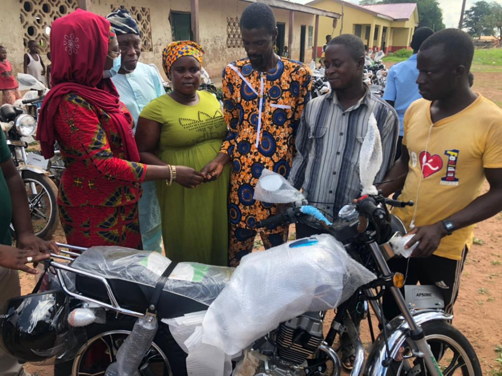 MP redeems campaign pledge in donating brand new motorcycles
