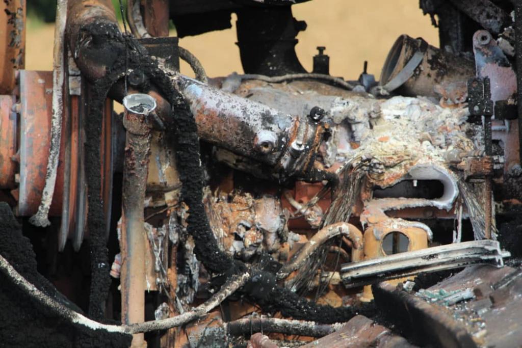 More mining equipment belonging to NPP Women's Organizer set on fire
