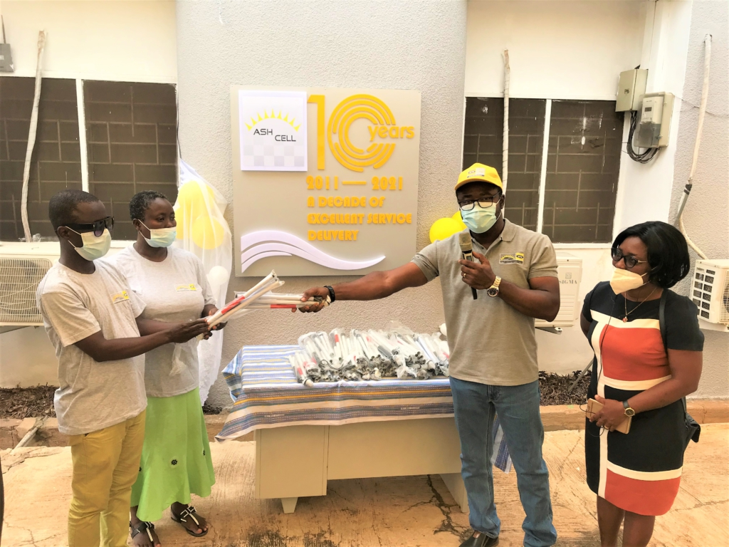Covid-19: Ghana Blind Union, 3 hospitals in Kumasi get support from AshCell